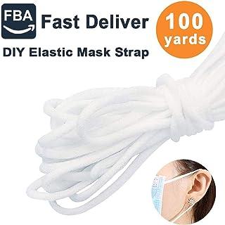 1/8 inch High Elastic Earloop Stretch Bands Knitted Elastic Cord Sewing Thread Elastic String DIY Craft Clothing Sewing Thread 100yards
