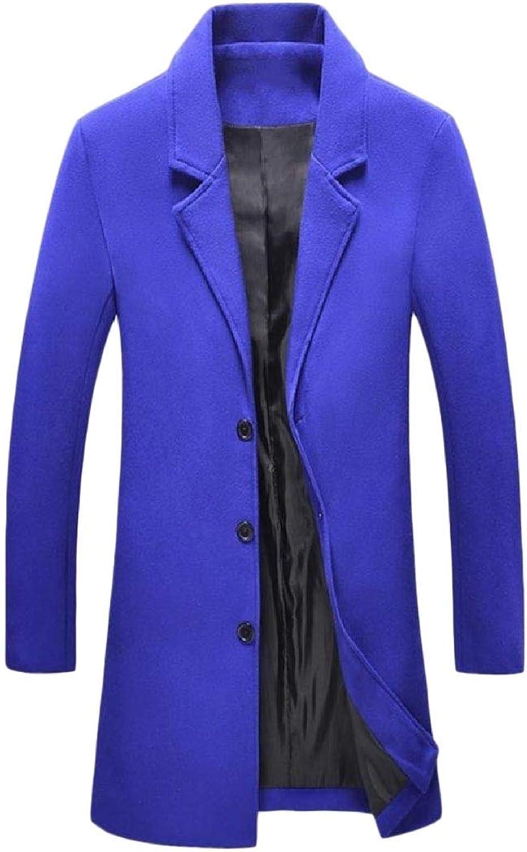 d8bc595a Doufine Men's Trenchcoat Topcoat Wool Blend Blend Blend Vogue Casual Woolen  Coat 52b91b