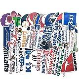 BLOUR 52 Uds Logotipo de aerolínea Pegatinas Viaje de aviación Viaje para Maleta portátil calcomanía Moda DIY Pegatina Impermeable