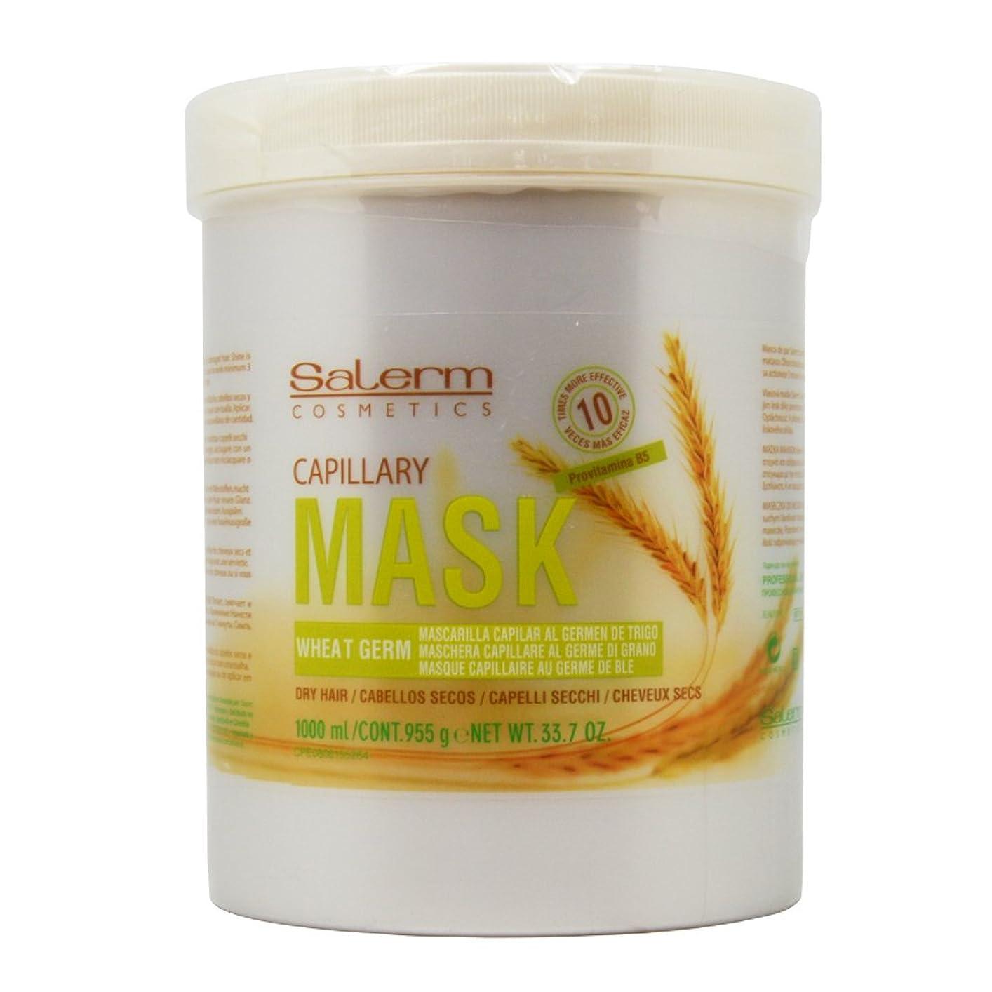 死速度特徴づけるCapillary Mask by Salerm Salerm化粧品小麦胚芽キャピラリーマスク、ドライ髪のためのプロビタミンB5 33.7オンス/千ミリリットル - largeリットルサイズ