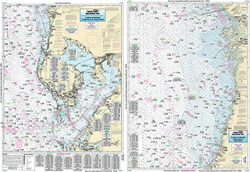 Tampa Bay to Crystal River, FL - Laminated Nautical Navigation & Fishing Chart by Captain Segull's Nautical Sportfishing Charts | Chart # TAM40