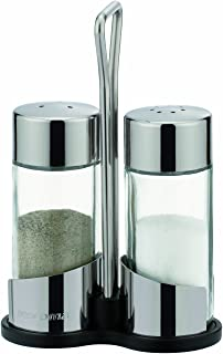 Tescoma Club salt and pepper shakers set, with stand and holder, glass and stainless steel