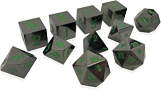 Norse Foundry Set of 11 Posioned Daggers THIEVES PACK Full Metal Polyhedral Dice by RPG Math Games DnD Pathfinder