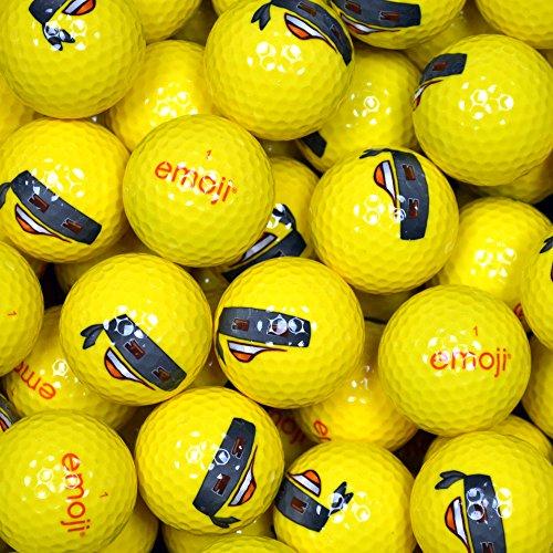Emoji Bandit a Forma di Palline da Golf (Confezione da 100 Pezzi, Colore: Giallo