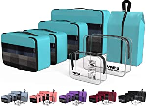 YAMIU Cubes Packing لوازم جانبی سازمان دهنده سفر 7 عیار با کیف کفش و 2 کیف توالت (آبی)