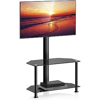 FITUEYES Giratorio Mueble HiFi con 2 Estantes Soporte de Suelo para TV LCD LED OLED Plasma Plano Curvo 32-55 Pulgadas TW207502MB: Amazon.es: Electrónica