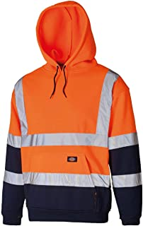 Rimi Hanger Adults 2 Tone High Visibility Hoodie Unisex Work Wear Pullover Hooded Sweatshirt Small-4XLarge