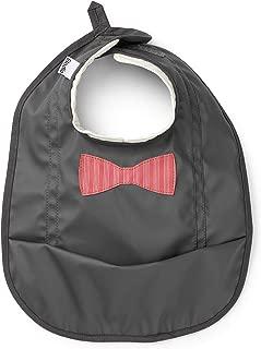 Elodie Details Babero para Bebés Colección de Navidad - Bowtie Stripe, Negro