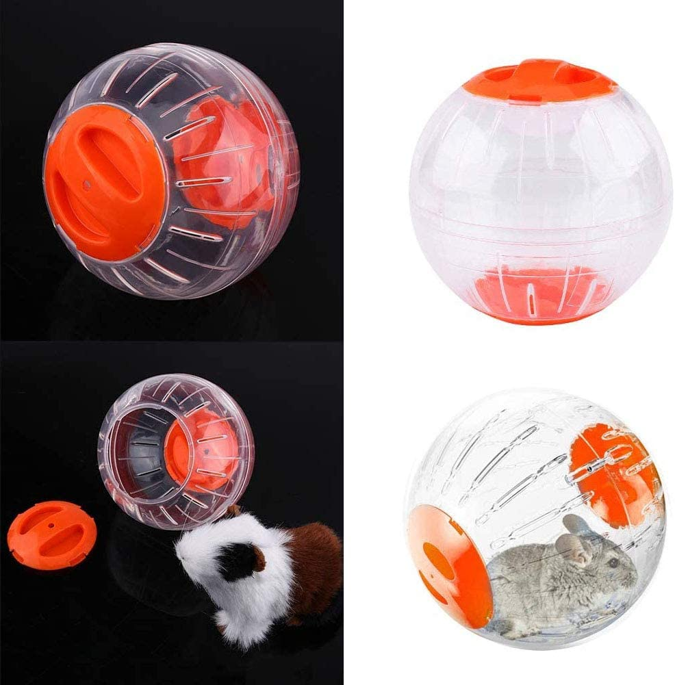Prevent Escape Suitable for Small Animals Waterproof Potato Pet Running Jogging Exercise Ball Transparent Hamster Ball Special Toy Ball Breathable Valuxe Hamster Big Run-About Exercise Ball