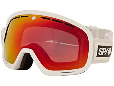 Spy Optic Marshall Asian Fit (Essential White Happy Gray Green w/ Red Spectra+Happy Yellow) Snow Goggles