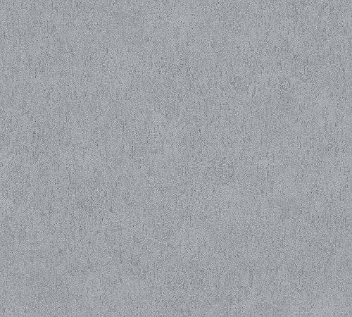 A.S. Création behang Soraya 10,05 m x 0,53 m grijs wit 306871 Natuur Breite 0,53 m - Rollenlänge 10,05 m donkergrijs