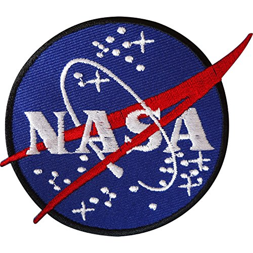 ELLU NASA Iron On Patch/Sew On Badge for Astronaut Space Fancy Dress Costume Jacket