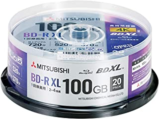 Verbatim バーベイタム 1回録画用 ブルーレイディスク BD-R XL 100GB 20枚 ホワイトプリンタブル 片面3層 2-4倍速 VBR520YP20SD4