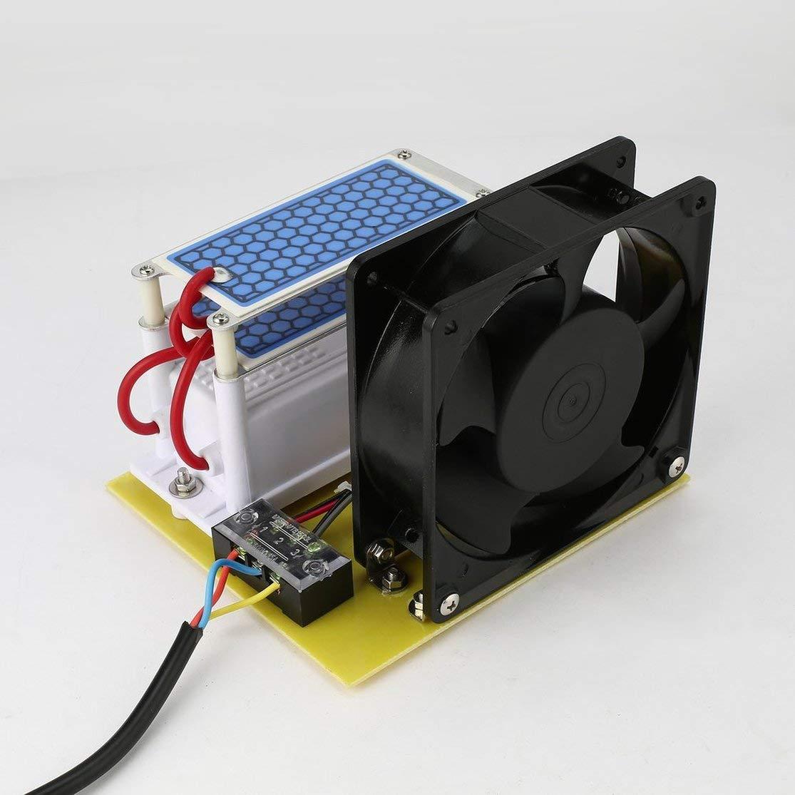 LouiseEvel215 10 g/h Generador de ozono Doble Placa de cerámica Esterilizador Integrado Purificador de ozonizador de Aire Dispositivo de eliminación de olores DIY Plug & Play: Amazon.es: Hogar
