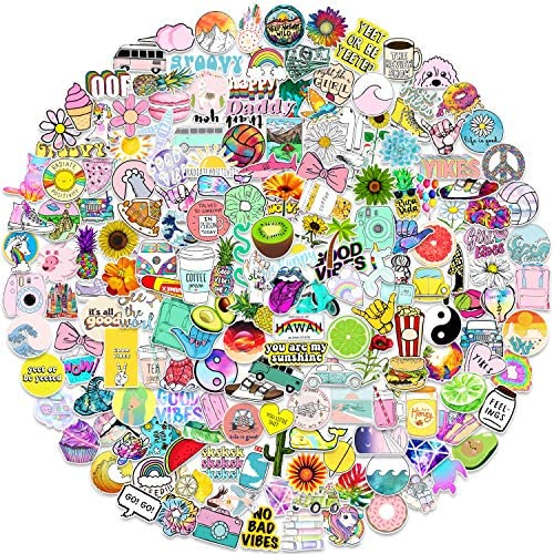 Stickers for Water Bottles 200 PCS Funny Cute Stickers for Teens Girls Adults Perfect for Waterbottle product image
