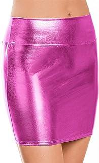 5639de8bf Amazon.es: minifalda cuero - Rosa / Faldas / Mujer: Ropa