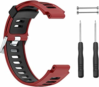 Xberstar Garmin ForeAthlete 235J用バンド 交換ベルト シリコン製 工具付 ForeAthlete 220J 230J 630J 620 735XTJに対応