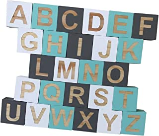 FITYLE Kids Education 26 English Alphabet Letters Blocks Cubes Educational Craft Early Kids Education #B