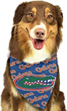 Washable and Reversible Triangle Bibs Scarfs, Florida Gators Multi Coloured Neckerchief Kerchief for Pet Dogs Cats, Size:side-18