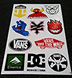 La hoja A4 x 1, monopatín, patinador DC VANS ZOO YORK ETNIES ALIEN WORKSHOP ETIQUETA ELEMENTO, BOMBA DE MOTOCROSS Pegatinas BICI DE BMX, scooters, quads, Go-Kart, etiqueta, de ser pintado en la pared …