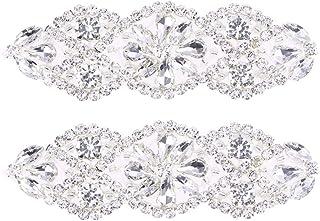 comprar comparacion SUPVOX Aplique nupcial de diamantes de imitación con apliques de nupcial para la boda de cristal nupcial aplique de plata ...