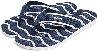 Men's Summer Flip Flops, Wave pattern High elasticity Sandals Non-Slip Slippers Toe Post Thong Platform Wedge Beach Shoes,3,41