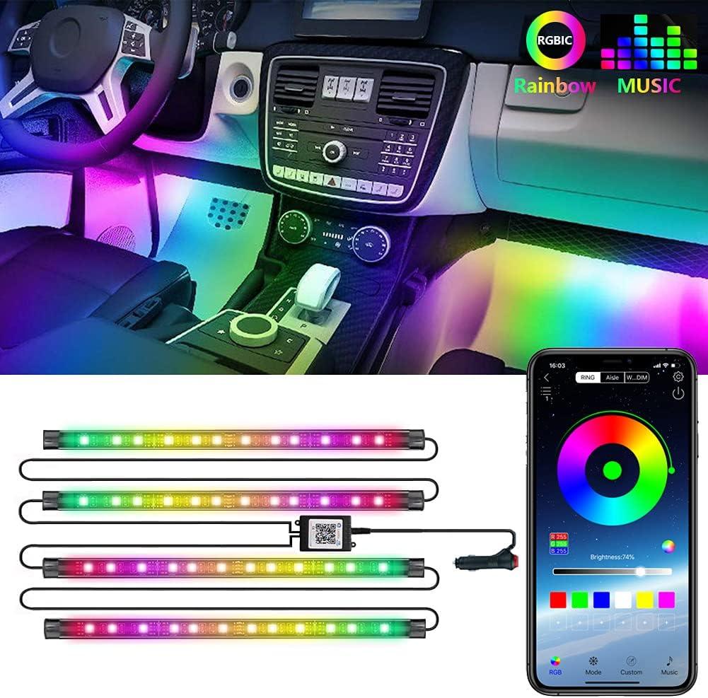 RGBIC Interior Car Lights LEDCARE Strip Modes Portland Mall 210 Max 65% OFF Light LED