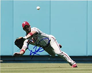Aaron Rowand Philadephia Phillies Action Autographed Signed 8x10 - Certified Authentic