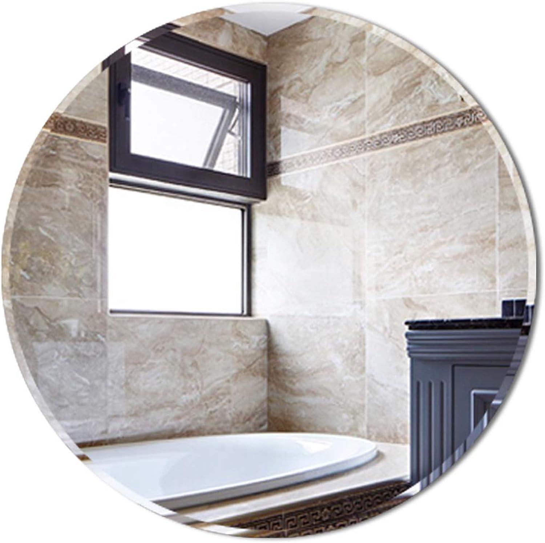 Frameless Round Wall Mirror - Modern Bedroom, Bathroom Shaving Mirror, Family Wall-Mounted Vanity Mirror