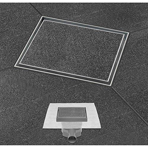 ESS Easy Drain Design Bodenablauf Aqua 10x10 cm,