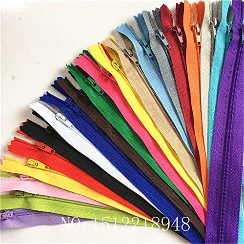 WKXFJJWZC - 40pc fermetures à glissière en nylon - Pour la couture - 20 couleurs, 50 cm