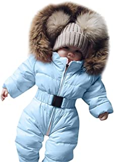 89029570746 Pulison Baby Girls Rompers Winter Warm Thick Coats Outwear Hooded Jackets  Slid Long Sleeve Clothes