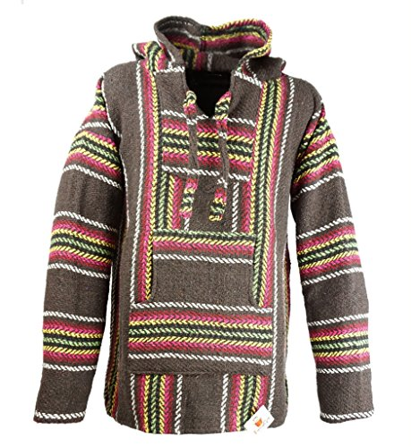 Funny Guy Mugs Premium Baja Hoodie Sweatshirt Pullover Jerga Poncho - mehrfarbig - Medium
