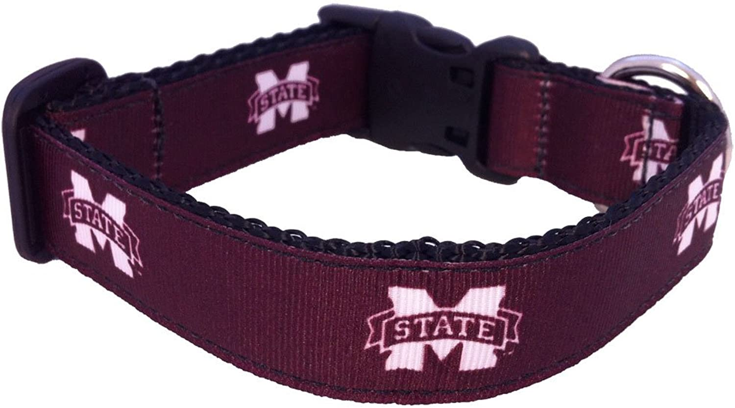 All Star Dogs Mississippi State Bulldogs Dog Collar (Team color, Small)