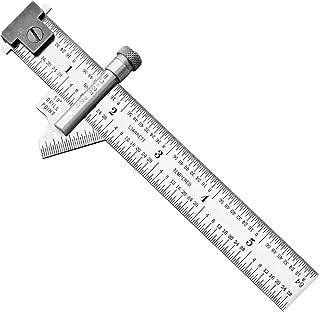 Starrett 22C Drill Point Gauge, Hook Rule, 59 degree Head Bevel Angle, 1/32