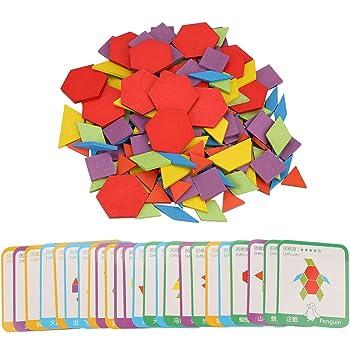 Lewo Tangrams Set Puzzles aus Holz Gehirntraining