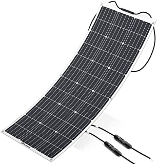 ALLPOWERS Solar Panel 100W 18V 12V Flexible Solar Charger Monocrystalline Lightweight Solar Module Kit with MC4 Connector Charging for RV Boat Cabin Tent Car (Compatibility with 18V and Below Devices)