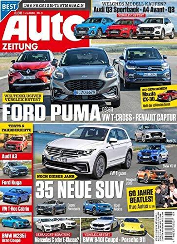 """Auto Zeitung 9/2020 \""""Ford Puma gegen VW T-Cross\"""""""