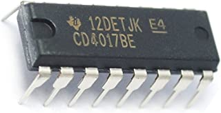 Texas Instruments CD4017BE CD4017 CMOS Decade Counter with 10 Decoded Outs (Pack of 5)