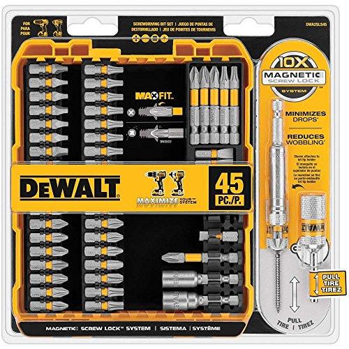 Dewalt DWA2SLS45 MaxFit Screwdriving Set (45-Piece)