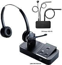Jabra PRO 9450 Duo Flex Boom Wireless Headset with EHS Avaya 14201-35 Cable, Bundle for Avaya Phones (1600 & 9600 Series)
