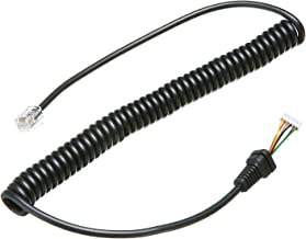 Pasow Replacement Microphones Mic Cable Cord Wire for Yaesu MH-36 MH-36A6J MH-36B6JS MH42 MH-42B6J MH-42C6J MH-48 MH-48A6JA MH-48A6J FT-1500M FT-2800M FT-7100M FT-7800 FT-8800 FT-8900 FT-8900R