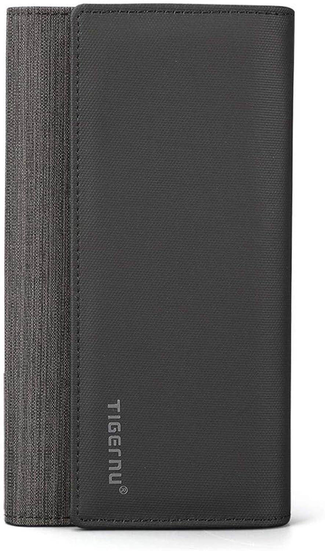 JTSYHHerren Lange Lange Lange Brieftasche Clutch Bag Herren Tasche Multi-Card Position dunkle Schnalle Geldbörse,schwarz B07PBPBR3M 40b4e8