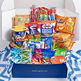 My ​College​ Crate​ ​Microwave​ Snack Care Package - ​50 Piece​ Bulk Variety Pack Box for Adults ​and ​Kids ​with Ramen ​Mix​, ​Popcorn, Mac n Cheese, Assorted Chips, Granola Bars and Candy