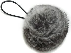 Chinchilla Pom Pom Ponytail Holder & Portable Device/Purse Pom Pom w/Elastic Cord