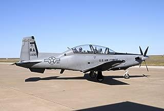 Posterazzi U.S T-6A Texan II at Sheppard Air Force Base Texas Poster Print (34 x 23)