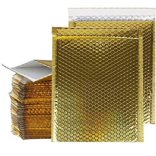 9.5x14.5 Bubble Mailer 30 Packs Gold Mailing Envelopes Padded Self Seal Poly Bubble Mailers #4 Bubble Envelopes Mailer Bag, Waterproof Shipping Envelopes By STARVAST