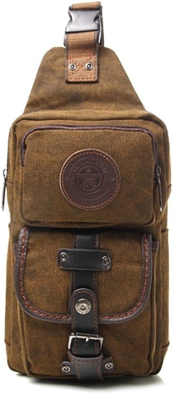 Mens Chest Shoulder Sling Bag Canvas Multi Pocket Hip Belt Crossbody Bag Messenger Bag Casual Bag Tactical Waist Pack