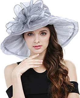 Janey&Rubbins Women's Wide Brim Hats S1707 for Kentucky Derby Day, Church, Wedding, Party and More Formal Occasion