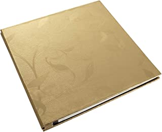 Lanpn Photo Album Self Adhesive, Large Leather Cover Self Stick Sticky Photo Picture Albums with Magnetic Pages for Family 3x5 4x6 5x7 8x10 Picture Photos (25 Sheets / 50 Pages, Gold)